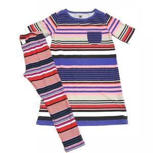Tea collection girls striped dress & leggings